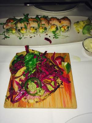 Sushi and Fish Tacos